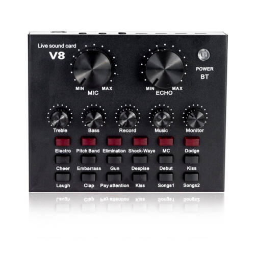 V8 Professzionális digitális audio keverő hangkártya Bluetooth TB2135