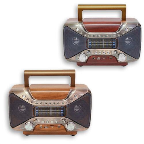 Retro Bluetooth hordozható multimédia lejátszó MP3 USB FM rádió TF SD MD-102BT
