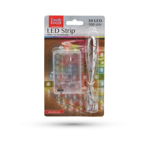 LED szalag RGB elemes 1m 55885