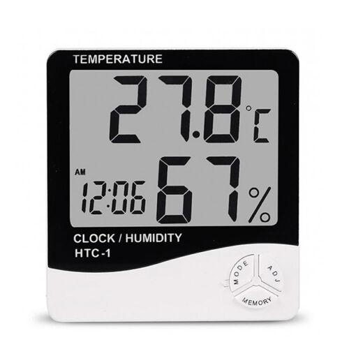 Beltéri hőmérő páratartalom mérő óra asztali fali HTC-1