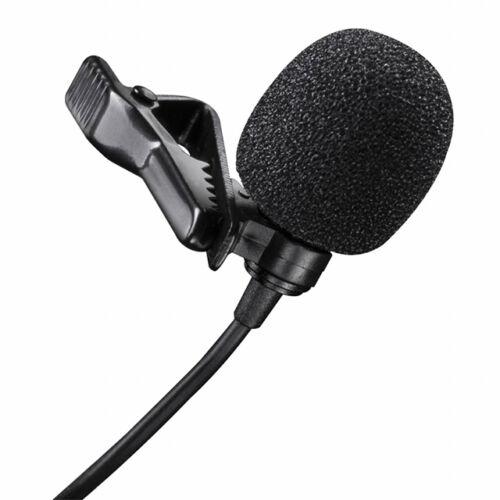 Csíptetős mikrofon kamerához telefonhoz 3,5mm jack 150cm SDT-13-AUX
