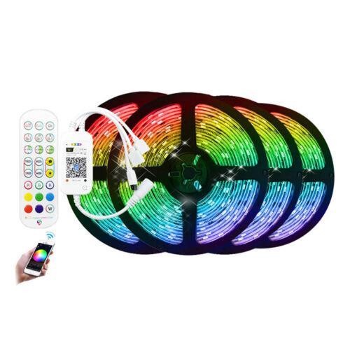 WiFi RGB okos LED szalag szett távirányítóval telefon és hangvezérlés 20m
