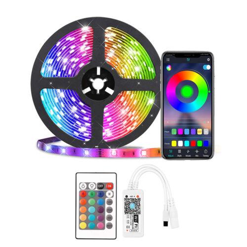 WiFi RGB okos LED szalag szett távirányítóval telefon és hangvezérlés 5m