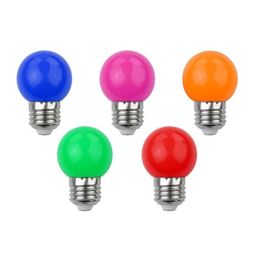 Színes mini LED izzó E27 65mm