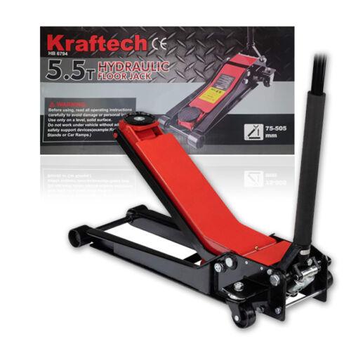 Kraftech alacsony profilú krokodil hidraulikus emelő 5.5T 75-505mm HB6794