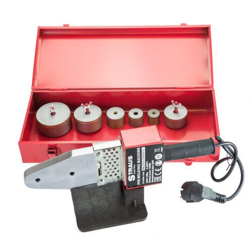 Straus PPR csőhegesztő készülék fém kofferben 1200W 20-110mm ST/PWM-1200
