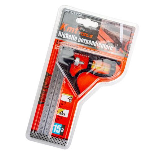 KMT Tools Kombinált derékszög vonalzó 150mm 6314508